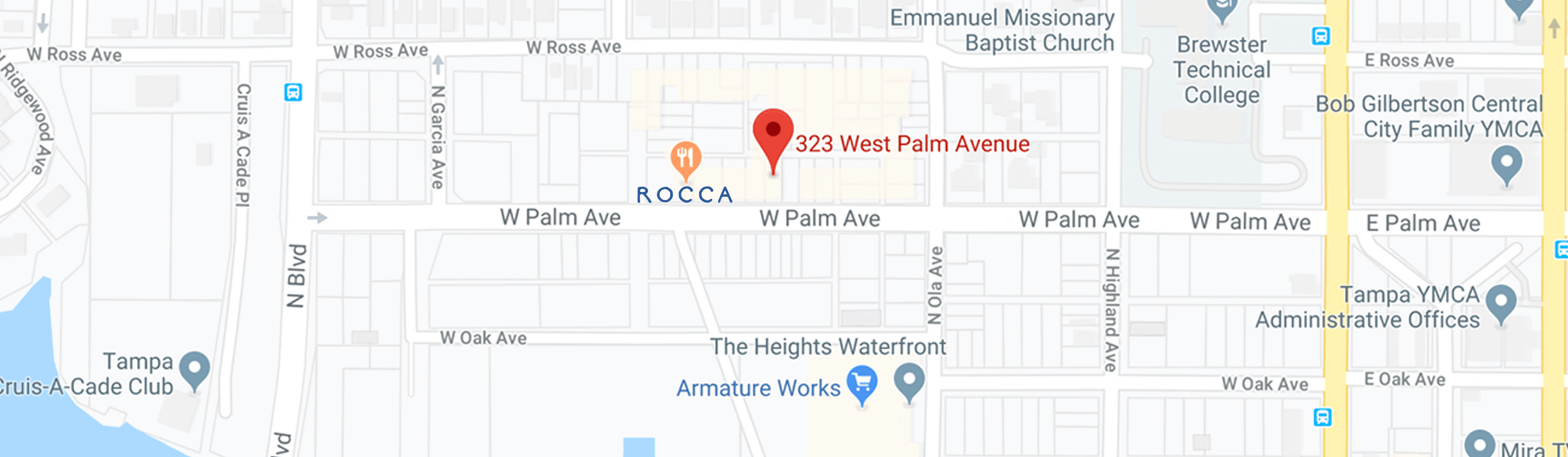 google map to Rocca Tampa